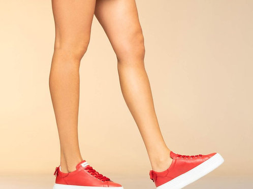 Plateau Sneaker | Red Bow