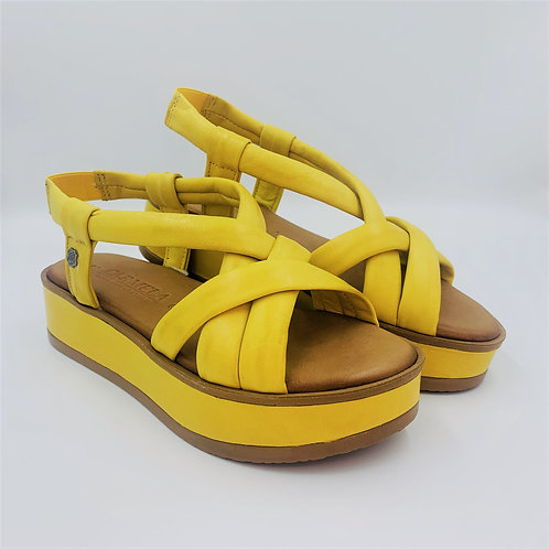 Plateausandale | yellow