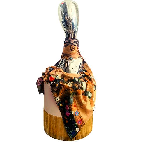 Doppelseitiges Tuch Seidenmix No°3 |Klimt