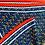 Thumbnail: Plissiertes Halstuch | Navy & Red