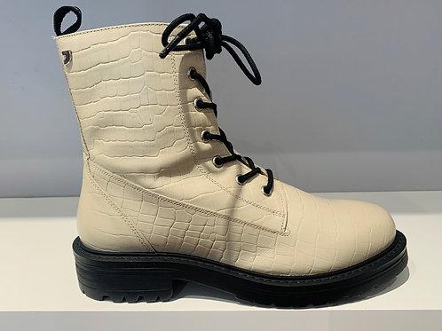 GIOSEPPO Combat Boot Croco Creme