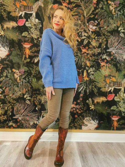 Pullover | Pop blue