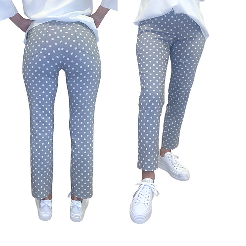 Strechhose | Polka Dots gray oder black