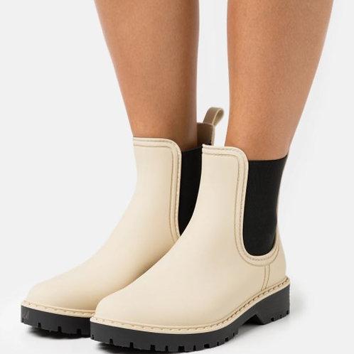 VERBENAS Gummi Ankle Boot Creme