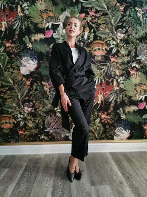 Kimonojacke minimalist | Black