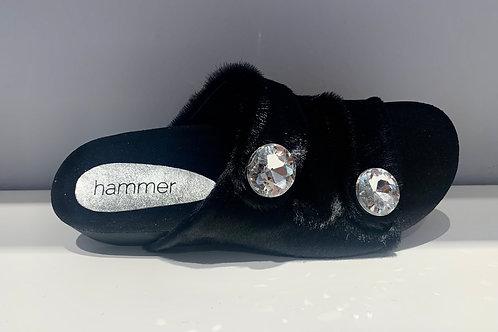 HAMMER Fell & Kristall Sandalen