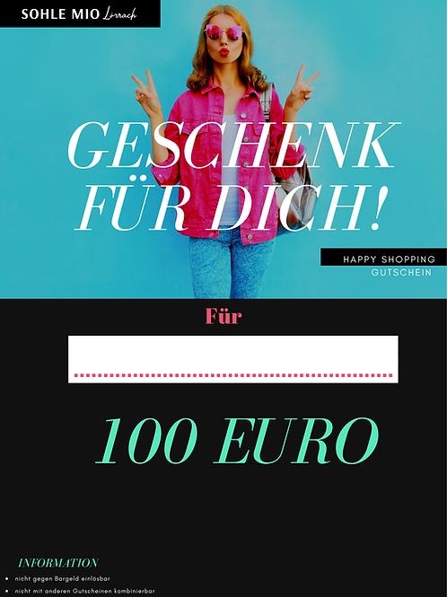 """100€ """"Shopping"""" Gutschein"""