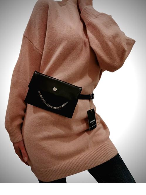 Gürtel & Tasche | plain black