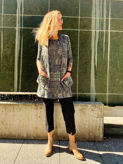 Braces&Pockets Tunic Edgy Grey