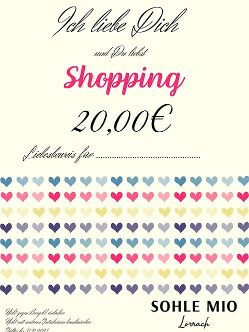 """20€ """"Liebesbeweis"""" Gutschein"""