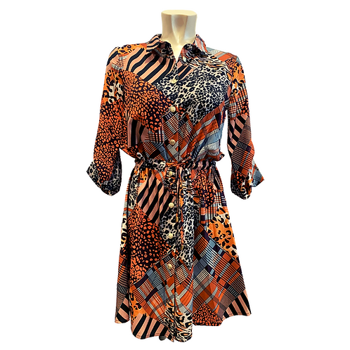 Mini Dress   orange patterns