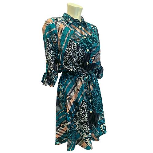 Mini Dress | Turquoise patterns