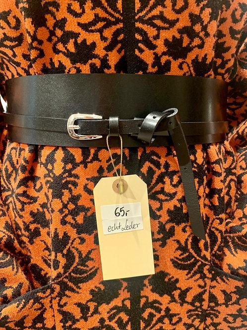 Ledergürtel sling | black
