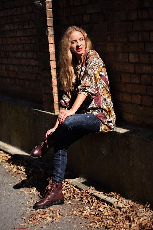 Tunic Dress Amber Leaves