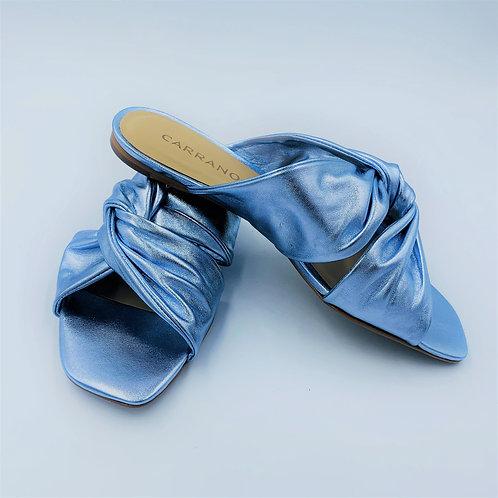 Glamour Pantolette | metallic blue