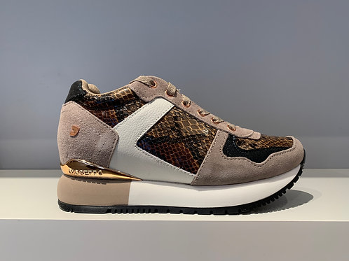 GIOSEPPO Brown Snake Sneaker