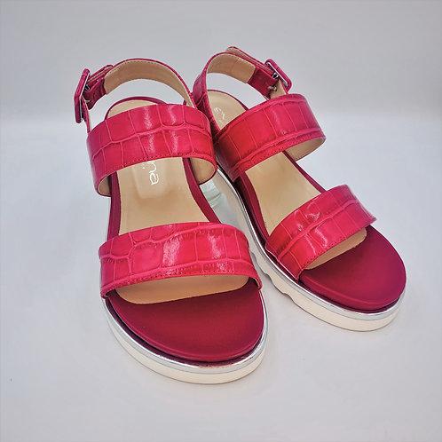 Sommersandale | pink croco