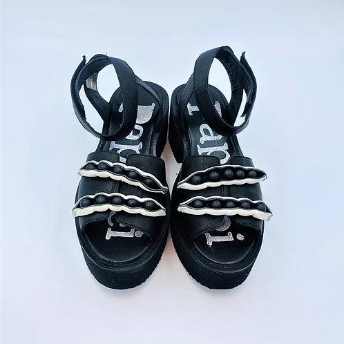 Ankle Sandale | black & white