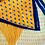 Thumbnail: Plissiertes Halstuch   Yellow & Navy