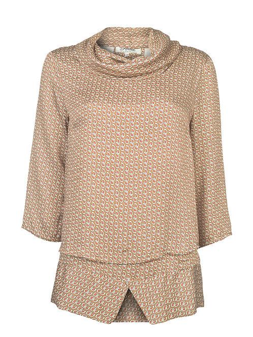 Bluse Double Wear | Caramel