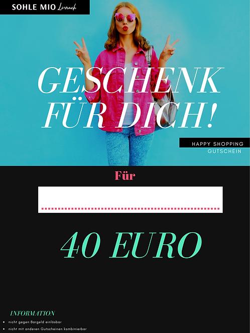 """40€ """"Shopping"""" Gutschein"""