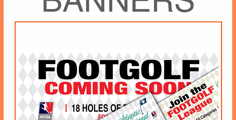 FootGolf Awareness Banners
