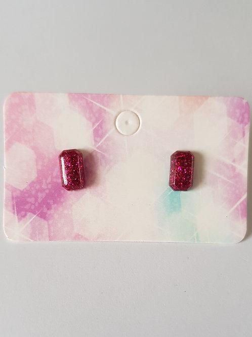 Boucles d'oreilles hypoallergéniques,diamant pailletté,rose,géométriques