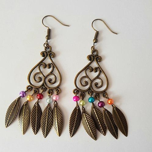 boucles d'oreilles pendantes,multicolore,dormeuses,boucles originales