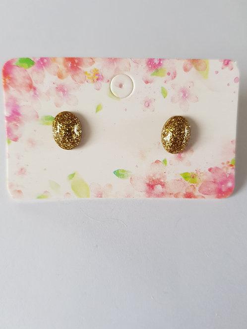 Boucles d'oreilles hypoallergéniques,diamant pailletté,or,géométrique