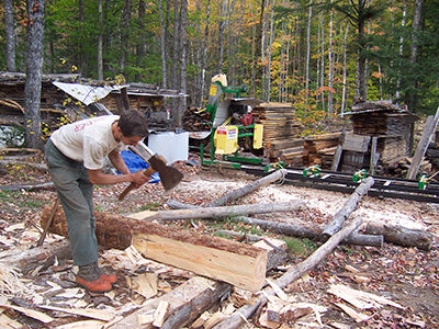mix old and new saw-ax for mother earth.