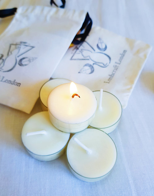 Damask Rose Scented Soy Wax Tealights