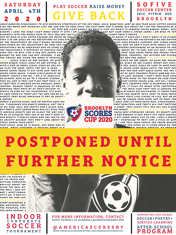 Brooklyn SCORES Cup 2020 Flyer - POSTPON