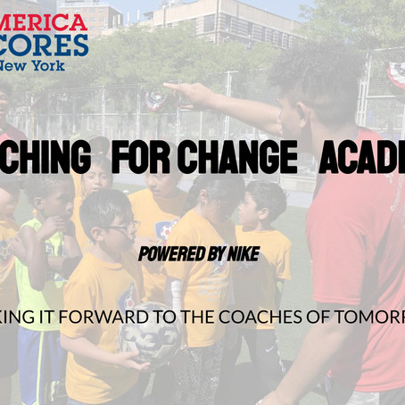 America SCORES New York Partners with Nike to launch Online Coaching for Change Academy