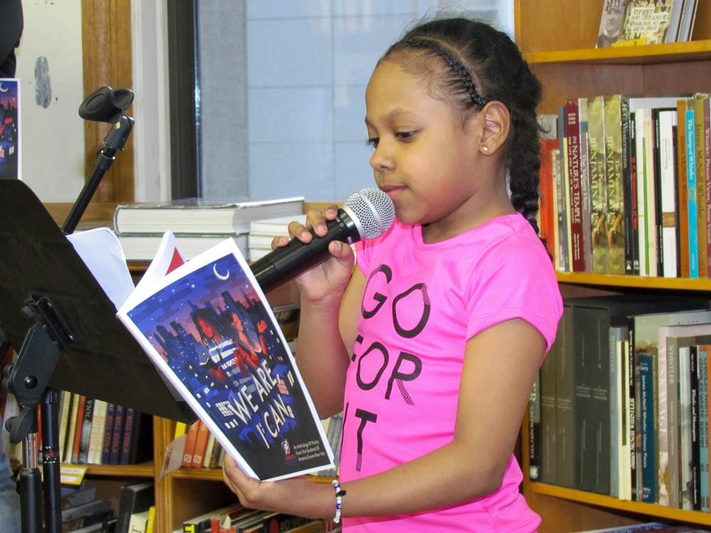 "Jaylene reciting PS 161's Girl Group poem, ""If I Ruled the World"""