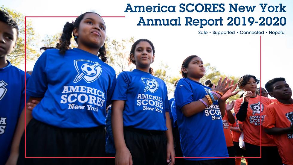 America SCORES New York Annual Report 20