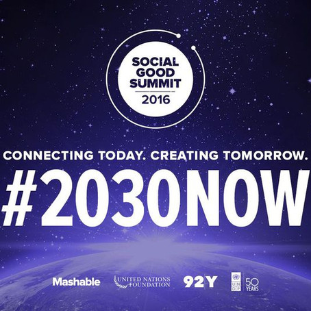 Reflections from the Social Good Summit: Localizing the Global Goals