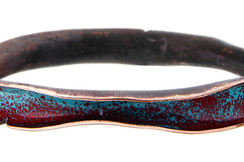 Enameled Wave Bangle