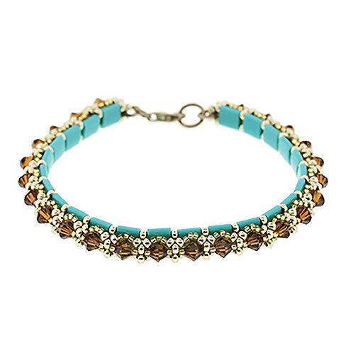Tila and Crystal Bracelet