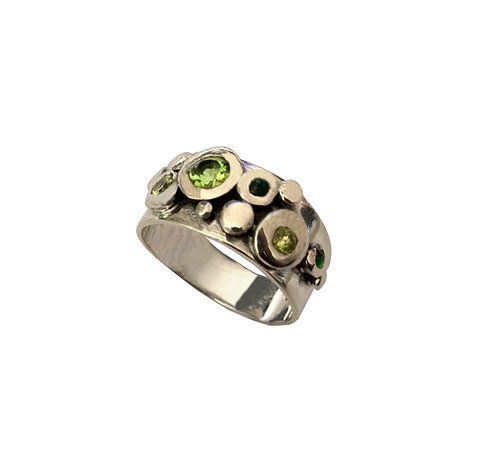 Green Jeweled Pebbles