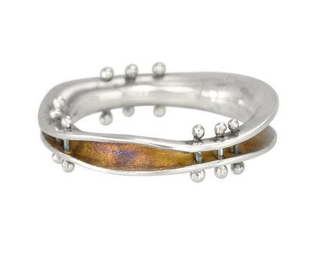 Mini Wave Ring with Pins