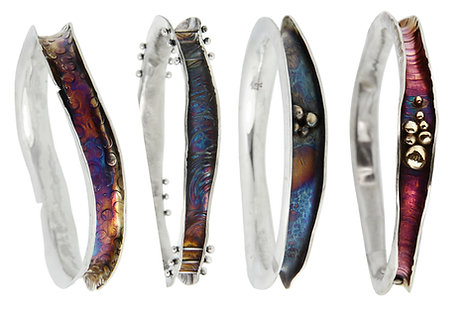 Silver Wave Bangle - March 22nd 10-5pm