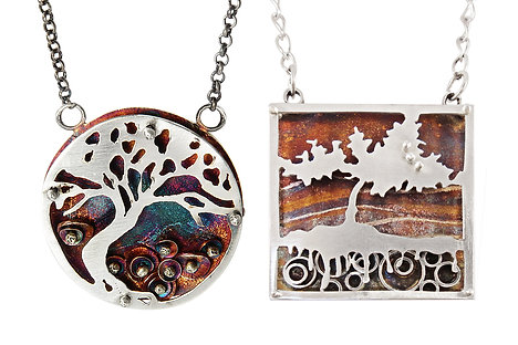 Layered Pierced Pendants -Oct 4, 2020 -  10am-5pm