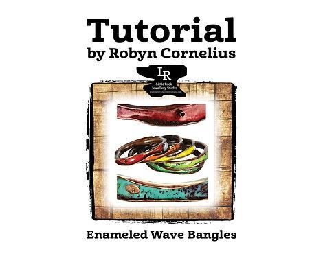 Enameled Wave Bangle Tutorial