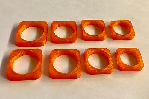 Sand Casting Ring Blanks Square 5mm Sizes 5-12