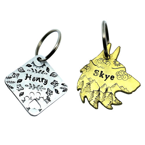 Metal Stamped Pet Tag