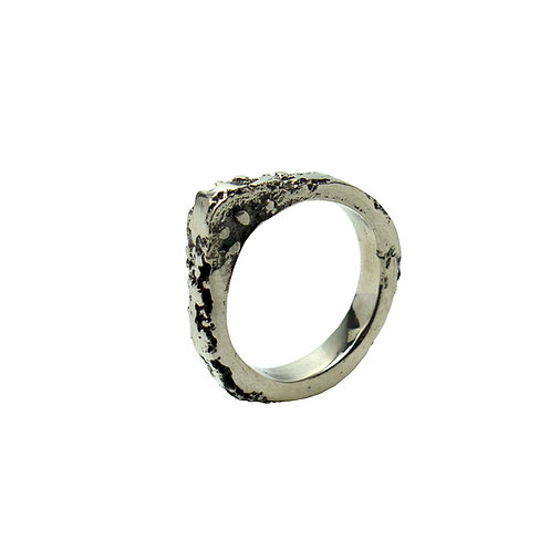 Sand Cast Pear Ring