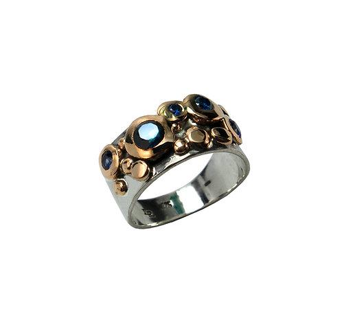 Blue Jeweled Pebbles