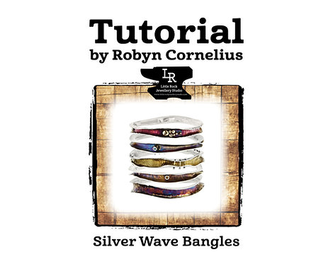 Silver Wave Bangle Tutorial