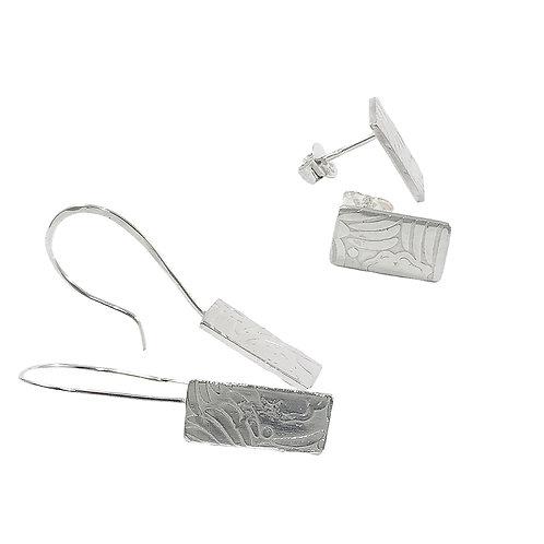 Roll Printed Earrings