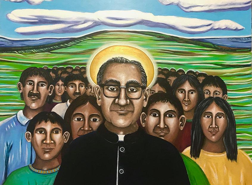 San Oscar Romero y Su Pueblo .jpg